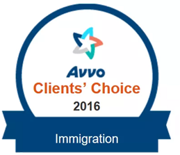 Avvo 2016 Clients Choice Immigration